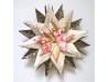 Origami Inspired Floral Pink Paper Star